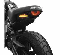 Body - Plate Relocator - New Rage Cycles - New Rage Cycles Fender Eliminator: Ducati Desert Sled
