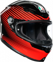 AGV - AGV K-6 Helmet: Rush Black/Red