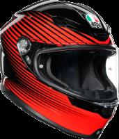 Helmets & Accessories - Helmets - AGV - AGV K-6 Helmet: Rush Black/Red