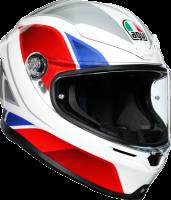 Helmets & Accessories - Helmets - AGV - AGV K-6 Helmet: Hyphen White/Red/Blue