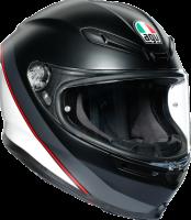 AGV - AGV K-6 Helmet: Minimal Matte Black/White/Red