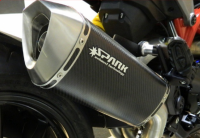 Spark - Spark Matte Carbon Fiber Racing Slip-on Exhaust with removable DB Killer: Ducati Monster 1200 [Made in Italy] - Image 1