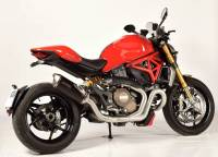 Spark - Spark Matte Carbon Fiber Racing Slip-on Exhaust with removable DB Killer: Ducati Monster 1200 [Made in Italy] - Image 2