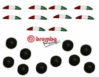 Electrical, Lighting & Gauges - Misc - Brembo - Brembo RCS Tricolor Stickers and Rubber Cap Kit [10 Pieces of each]