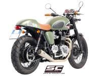 """SC Project - SC Project Conic """"70's Style"""" Exhaust: Triumph Bonneville, T100 - Image 3"""