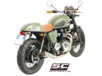 """SC Project - SC Project Conic """"70's Style"""" Exhaust: Triumph Bonneville, T100 - Image 4"""