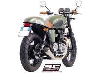 """SC Project - SC Project Conic """"70's Style"""" Exhaust: Triumph Bonneville, T100 - Image 5"""