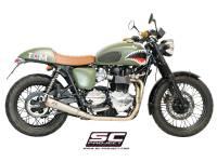 "Exhaust - Full Systems - SC Project - SC Project Conic ""70's Style"" Exhaust: Triumph Bonneville, T100"