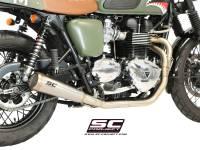 """SC Project - SC Project Conic """"70's Style"""" Exhaust: Triumph Bonneville, T100 - Image 2"""