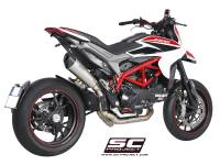 SC Project - SC Project Conic High Mount Full Exhaust: Ducati Hypermotard 821-939