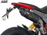 SC Project - SC Project Oval High Mount Exhaust: Ducati Hypermotard 821-939