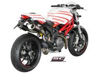 SC Project - SC Project Oval Exhaust: Ducati Monster 696-796-1100