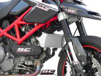 Parts - Engine & Performance - SC Project - SC Project Oversized Oil Cooler: Ducati Hypermotard 1100 EVO/SP