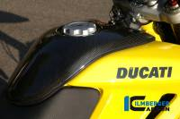ILMBERGER CARBON - Ilmberger Gloss Carbon Fiber Center Tank Cover: Ducati Hypermotard 796-1100 S/SP/EVO