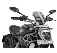 Puig - Puig Naked Bike Sport/Touring Windscreen: Ducati XDiavel - Image 2