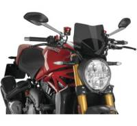 Puig - Puig Naked Bike Sport Windscreen: Ducati Monster 1200/S '14-'16