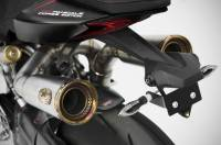 Zard - ZARD 2-1-2 Underseat Full Titanium Exhaust System With Gold Finish End-Caps: Ducati Panigale 1199