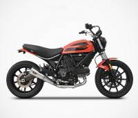 Zard - Zard Conical Slip-on Exhaust: Ducati Scrambler Sixty2 '16-'19