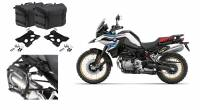 SW-Motech - SW-MOTECH PRO Side Carriers and SysBag Left-Right 60L Soft Saddlebags: BMW F850GS, F750GS