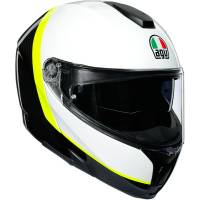 AGV - AGV SportModular Ray Helmet: Carbon/White/Yellow