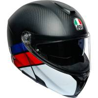 Apparel & Gear - Helmets & Accessories - AGV - AGV Carbon Sport Modular Helmet: Carbon/Red/Blue