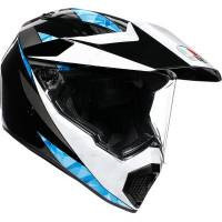 AGV - AGV AX9 Helmet: North [Black/White/Cyan]