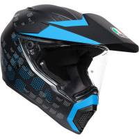 AGV - AGV AX9 Helmet: Antarctica [Black/Cyan]