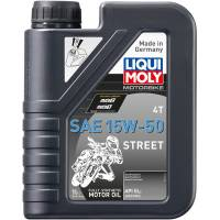 Tools, Stands, Supplies, & Fluids - Liqui Moly - Liqui Moly 15W-50 Street 4T Engine Oil [1 Liter]