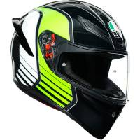 Apparel & Gear - Helmets & Accessories - AGV - AGV K1 Power Helmet: Gunmetal/White/Green