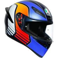Apparel & Gear - Helmets & Accessories - AGV - AGV K1 Power Helmet: Blue/Orange/White