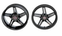 "BST Wheels - Rapid TEK 5 Split Spoke - BST Wheels - BST RAPID TEK 5 SPLIT SPOKE WHEEL SET [6.0 inch rear]: Suzuki Hayabusa ABS ""2013 - 2020"""