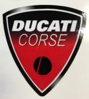 Stickers - Ducati Corse Sticker Black/Red
