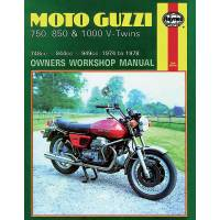 Books & Repair Manuals - Haynes Books - HAYNES Motorcycle Repair Manual — Moto Guzzi Laverda 750/1000