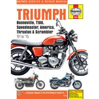 Books & Repair Manuals - Haynes Books - HAYNES Motorcycle Repair Manual — Triumph Bonneville, Scrambler, America, Thruxton
