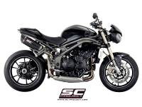 Parts - Exhaust - SC Project - SC Project Oval High Mount Exhaust: Triumph Speed Triple R/RS
