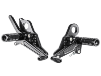 Hand & Foot Controls - Foot  Controls - Bonamici Racing - Bonamici Adjustable Billet Rearsets: Ducati Scrambler [Rider Portion Only]