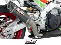 Parts - Exhaust - SC Project - SC Project Race Oval Exhaust: Aprilla RSV4 RF/RR '17, Tuono V4 1100/RR '17-'19