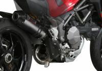 Mivv Exhaust - Mivv Oval Carbon Kat Delete Exhaust Multistrada 1200-1260 '15-'19