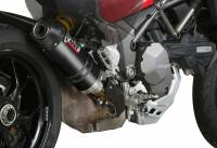 Mivv Exhaust - Mivv Oval Carbon Slip-On Exhaust Multistrada 1200-1260 '15-'19