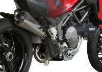 Exhaust - Mid Pipes - Mivv Exhaust - Mivv Delta Race Stainless Kat Delete Exhaust Multistrada 1200-1260 '15-'19