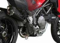 Exhaust - Mid Pipes - Mivv Exhaust - Mivv Delta Race Black Stainless Kat Delete Exhaust Multistrada 1200-1260 '15-'19