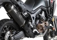 Mivv Exhaust - Mivv Speed Edge Black Stainless Slip-on Exhaust: Honda Africa Twin