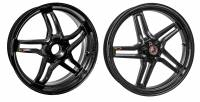 "BST Wheels - BST RAPID TEK 5 SPLIT SPOKE WHEEL SET [5.5"" REAR]: Ducati 1098-1198, SF1098, MTS1200-1260, M1200, Supersport 17+"