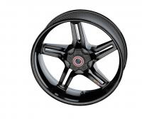 "BST Wheels - BST Rapid Tek Carbon Fiber 5 Split Spoke Wheel Set [6.0"" Rear]: BMW S1000RR '20+ - Image 8"