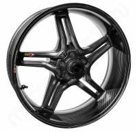 "BST Wheels - BST Rapid Tek Carbon Fiber 5 Split Spoke Wheel Set [6.0"" Rear]: BMW S1000RR '20+ - Image 3"