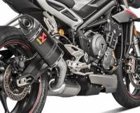 Exhaust - Slip-Ons - Akrapovic - Akrapovic Slip-On Exhaust: Triumph Street Triple 765 '17-'20
