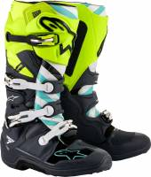 Men's Apparel - Men's Footwear - Alpinestars Apparel - Alpinestars Anaheim 20 Limited Edition Tech 7 MX Boot Grey/Yellow/Turquoise