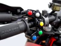"Ducabike - Ducabike Billet ""Road "" Left  Switch Housing Panel With Integrated ""7"" Push-Buttons [Models As listed]"