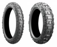 Wheels & Tires - Tires - Bridgestone Tires - Bridgestone Battlax Adventurecross AX41 Tire Set: BMW F850GS