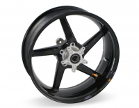 "BST Wheels - BST Diamond TEK Carbon Fiber 5 Spoke Rear Wheel [6"" Rear]: Ducati 851-888, Monster 620-750-900, 900SS-1000SSie"